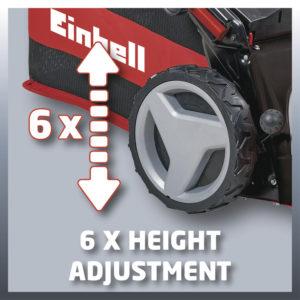 Einhell GE-PM 53 VS HW B&S Expert - nastavení výšky